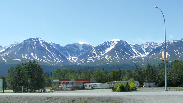 View Of Kluane National Park From Haines Junction